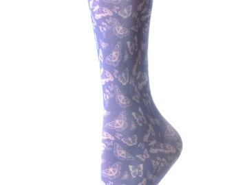 Cutieful Therapeutic Compression Socks - White Butterflies