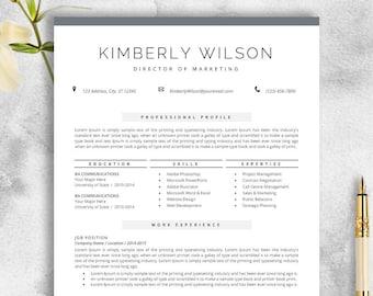 resume template for ms word professional cv template creative resume modern design teacher resume instant download