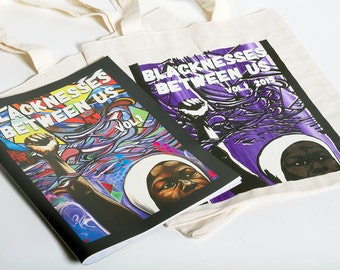 Blacknesses Between Us zine and limited edition tote bag combo