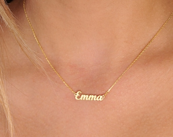 Tiny Gold Name Necklace,Personalized Gifts,Gold Name Necklace,Personalized Necklace-Gift For Her-Name Jewelry-JX02