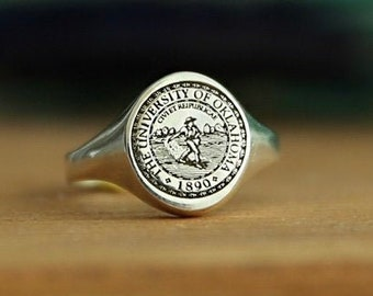 Sterling Silver Family Crest Ring-Coat of Arms-Custom Signet Ring-Personalized Jewelry-Personalized Ring-Gold Ring-JX21