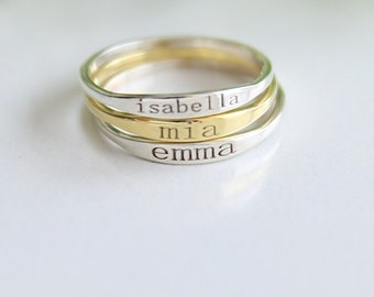 Custom Name Ring,Personalized Ring,Stacking Rings,Initial Ring,Dainty Ring,Bridesmaid Gift, Letter Ring-jX20