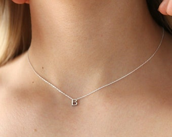 letter necklace sterling silver