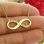 Infinity Necklace-Infinity Name Necklace-Gold Necklace-Personalized Infinity Name Necklace-Personalized Gift-Bridesmaid Gift-Mother Gift