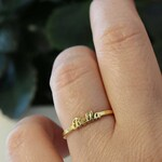 Dainty Name Ring-Personalized Ring-Gold Ring-Gold Name jewelry-Bridesmaid Personalized Gift-Rings-Personalized Gift-Initial Ring