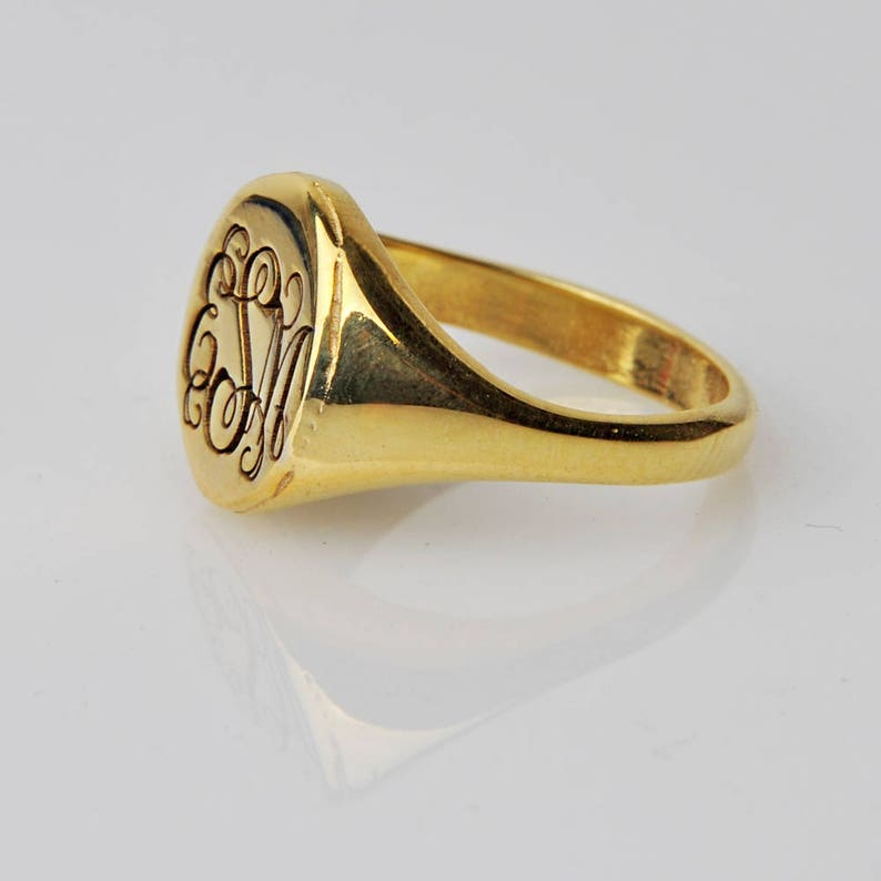 School Ring-Personalized Graduation Ring-Gold signet ring-Custom Coat of Arms-Class Ring-Graduation Gift-JX10