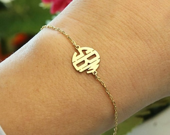 Monogram Bracelet Bracelets Custom Jewelry Rose Gold Monogram Jewelry Bridesmaid Gift Personalized Gift Personalized Jewelry Gift For Her
