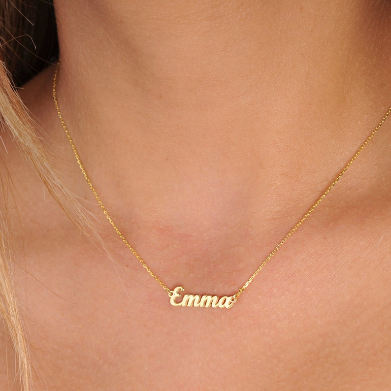 Personalized Tiny Name Necklace Sterling Silver Girls Necklace Fashion Name Necklace for Her