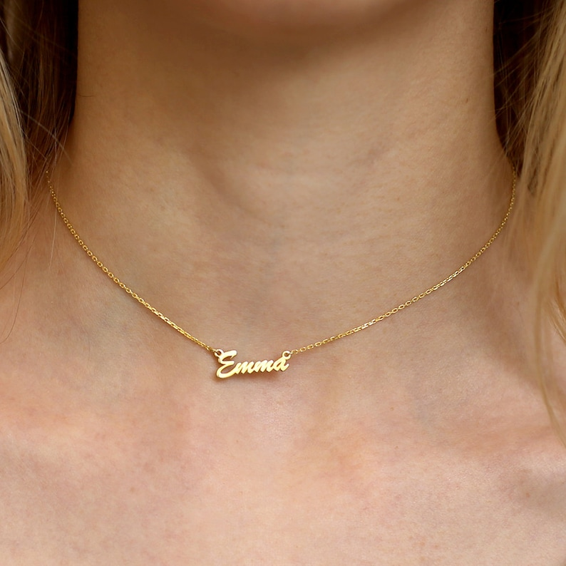 Tiny Gold Choker Necklace-Choker Necklace-Bridesmaid image 0