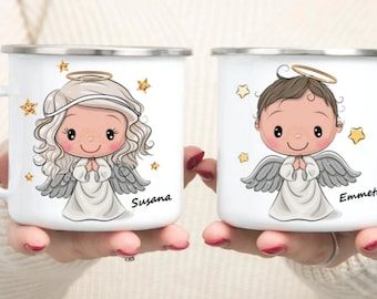 Personalized Angel mug  Retro mug Personalized Kids Cup  Toddler cup Kids Birthday Gift Toddler first cup girl cups 