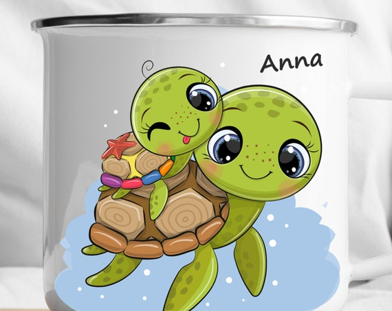 Personalized Turtle Mug|Personalized Kids Cup |Toddler cup|Kids Birthday Gift|Toddler first cup
