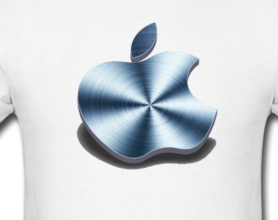Apple Logo 3D-Machined,Gift for iMac, macBook, PC. T-shirt