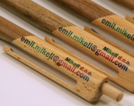 Unique Customized wooden ballpoint pen made almost completely from wood without plastic parts - personalized gift - gift pen - natural gift