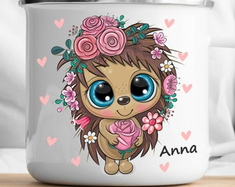 Personalized Hedgehog Mug Personalized Kids Cup  Toddler cup Kids Birthday Gift Toddler first cup