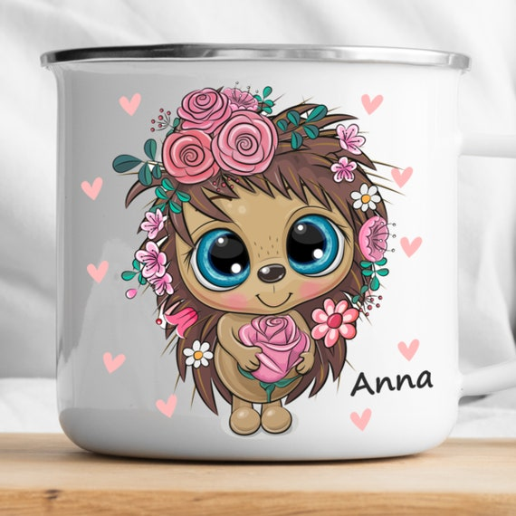 Personalized Hedgehog Mug|Personalized Kids Cup |Toddler cup|Kids Birthday Gift|Toddler first cup