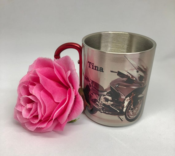 Bikers. Gift for the Bikers.Bikers gift.For him.For her. Stainless Steel carabiner mug.Gift idea.