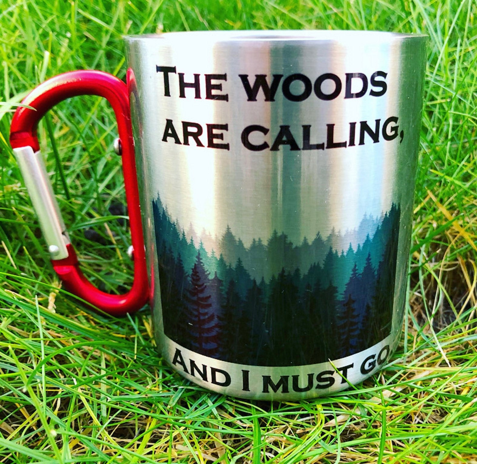 Hiking Lovers Steel Gift Carabiner forests stainless Coffee Mug outdoor BoedCQxWr