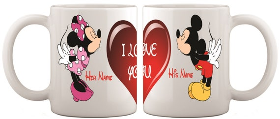Valentine's day gift|Mickey & Minnie Personalised Name mug|-------His and Hers Mugs|Valentine's day gift