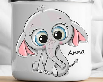 Personalized Elephant Mug Personalized Kids Cup  Toddler cup Kids Birthday Gift Toddler first cup