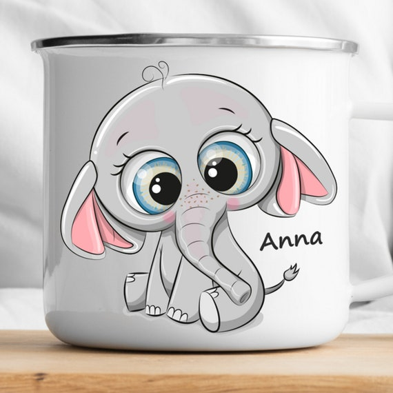 Personalized Elephant Mug|Personalized Kids Cup |Toddler cup|Kids Birthday Gift|Toddler first cup