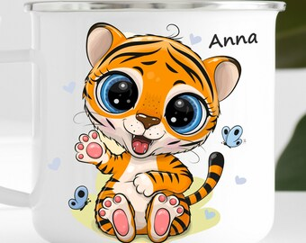 Personalized Tiger Mug Personalized Kids Cup  Toddler cup Kids Birthday Gift Toddler first cup