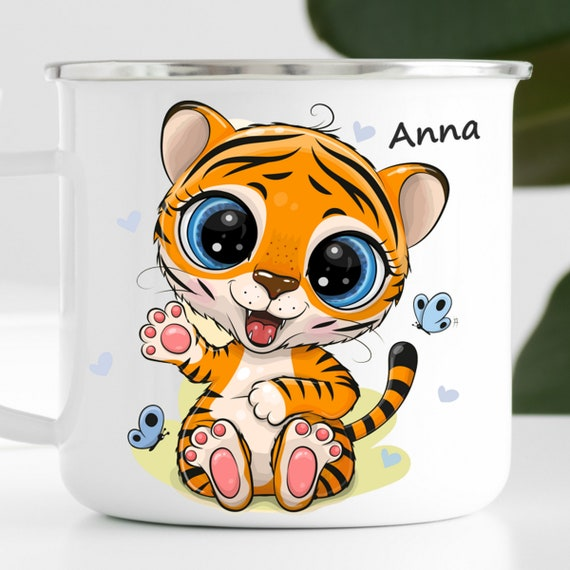 Personalized Tiger Mug|Personalized Kids Cup |Toddler cup|Kids Birthday Gift|Toddler first cup