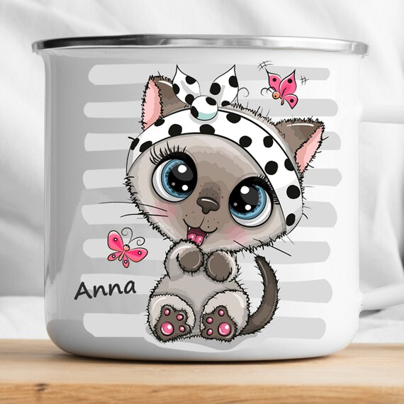 Personalized Cat Mug|Personalized Kids Cup |Toddler cup|Kids Birthday Gift|Toddler first cup