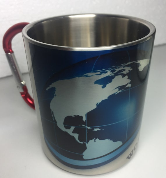Travelers gift.Hiking gift.For him. For her. Work save travel repeat.Stainless Steel carabiner mug. Gift idea.