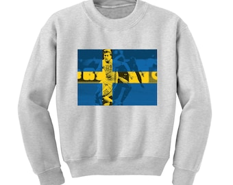 ad7ea21e4 World Cup 2018 Graphic Sweatshirt SWEDEN Flag Football Team Soccer