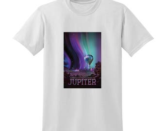 NASA Visions of the Future Jupiter Tshirt Space Travel Posters Sci-Fi Fashion