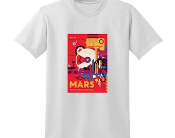 NASA Visions of the Future Mars Tshirt Space Travel Posters Sci-Fi Fashion
