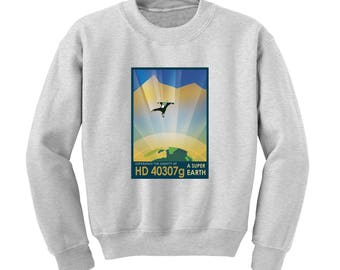 NASA Visions of the Future HD 40307 Sweatshirt Space Travel Poster Sci-Fi Jumper