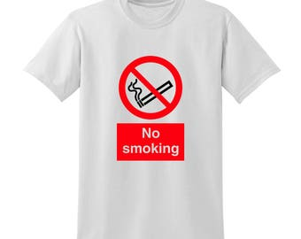NO SMOKING Graphic Tshirt New Year's Resolution Stop Smoking Healthy Living