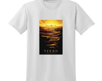 NASA Visions of the Future Titan Tshirt Space Travel Posters Sci-Fi Fashion