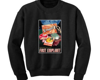 NASA Visions of the Future Exoplanet Sweatshirt Space Travel Poster Sci-Fi Sweat