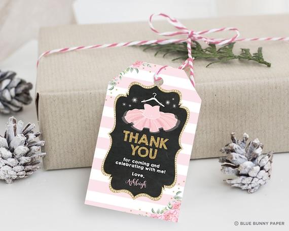 Pink Watercolour Ballerina Ballet Party Thank You Cards