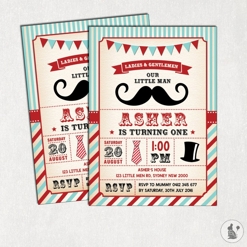388a0f43119c1 Little Man Birthday Invitation. Little Gentleman Invitation. Vintage  Mustache First Birthday Printable Digital Invite. Bow tie Invite L-M1