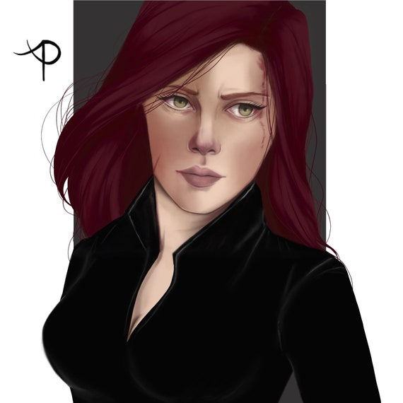 Print Black Widow Natasha Romanoff Avengers Digital Art