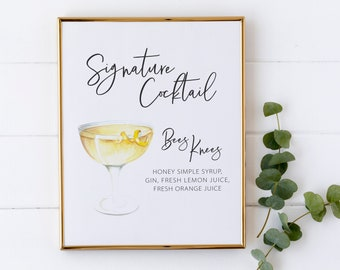 Signature Drink Sign Etsy