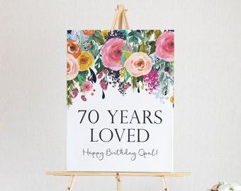 70 Years Loved Printable