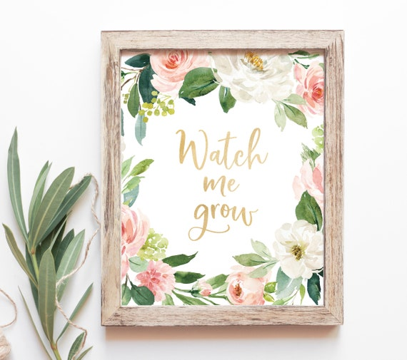 Watch Me Grow Sign Baby Shower Plant Favors Baby Shower Etsy