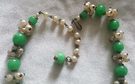Louis Rousselet French Glass Beaded Necklace - image 4
