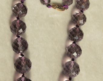 Victorian Faceted Amethyst Bead Necklace