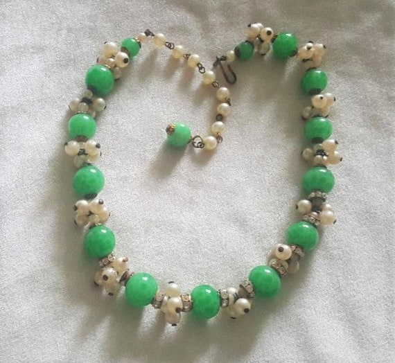 Louis Rousselet French Glass Beaded Necklace - image 2