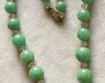 1930's Peking Glass Necklace