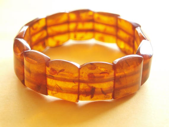Vintage Genuine Butterscotch Amber Bracelet Etsy