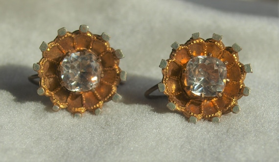 Victorian Paste Earrings - image 1