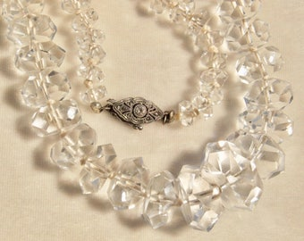 Luxurious Faceted Rock Crystal Necklace