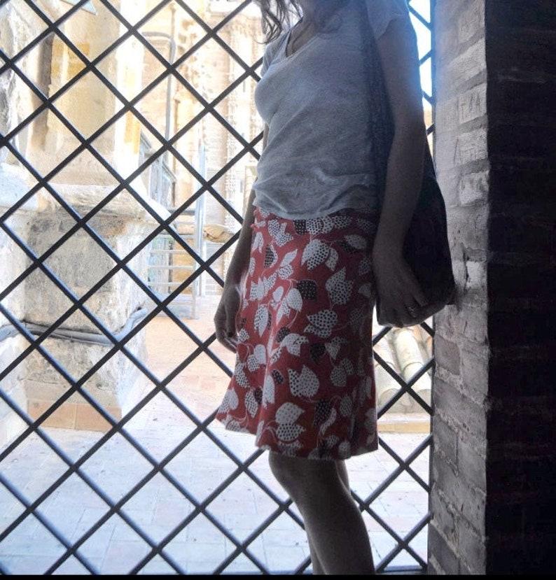 sizes 10 a-line bias cut medium weight cotton skirt 12 14