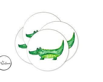 12 stickers for the Mitgebsel bag, sticker set, sticker set, sticker crocodile